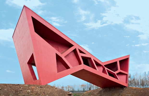 Jinhua Architecture Park, Bridging Teahouse completed by LAR/Fernando Romero in 2006