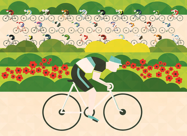 An illustrated journey of the Tour de France