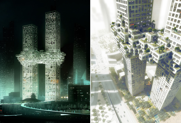 MVRDV architect's 'Cloud' design for Seoul's new Yongsan Dreamhub project masterminded by super-architect Daniel Libeskind