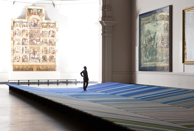 Textile Field at the Victoria and Albert Museum, London, Ronan and Erwan Bouroullec, fabric by Kvadrat