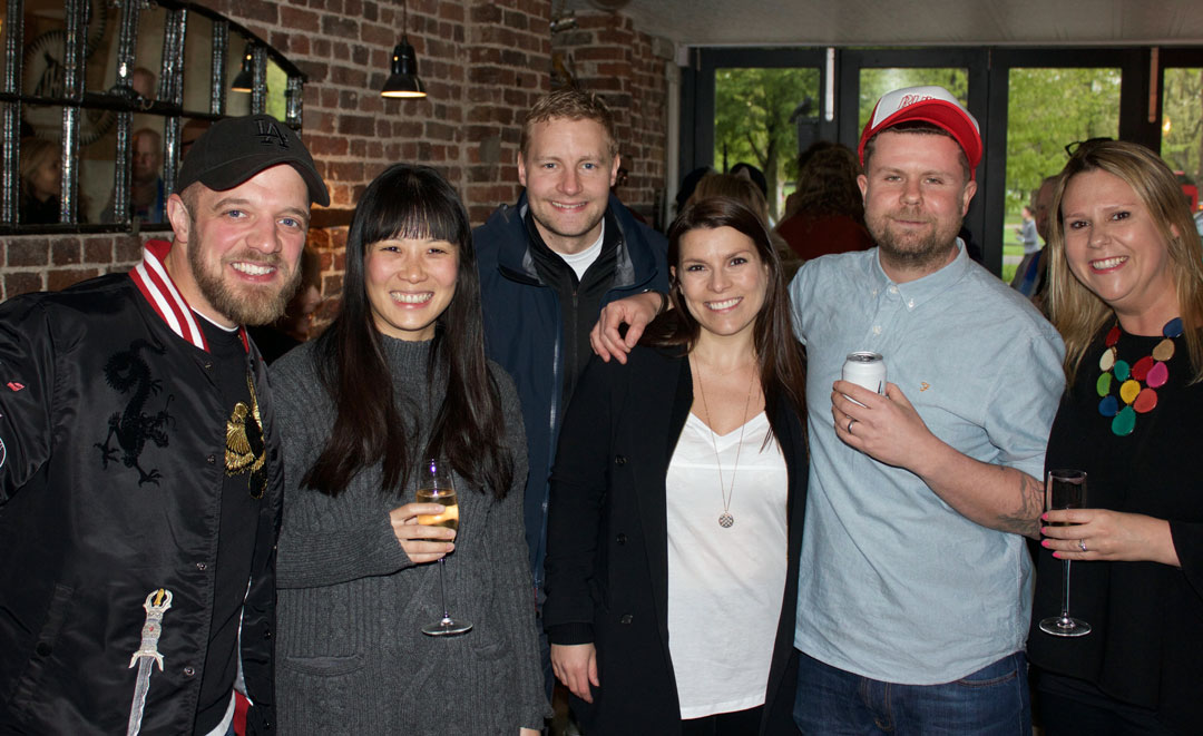 James Knappett, Sandia Chang, party guests and Robin Gill and his wife from The Dairy - photo Bonnie Beadle