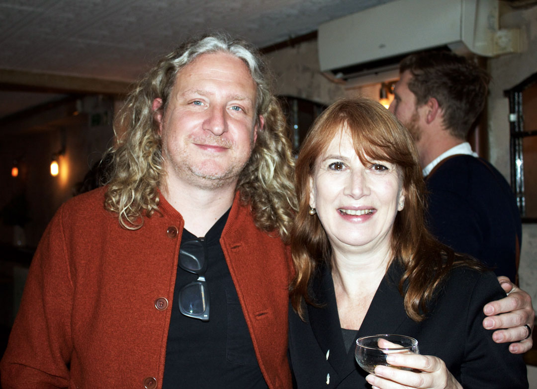 Where Chefs Eat author Joe Warwick and Phaidon publisher Emilia Terragni - photo Bonnie Beadle