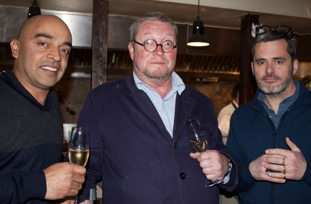 Fergus Henderson of St. John and party guests - photo Bonnie Beadle
