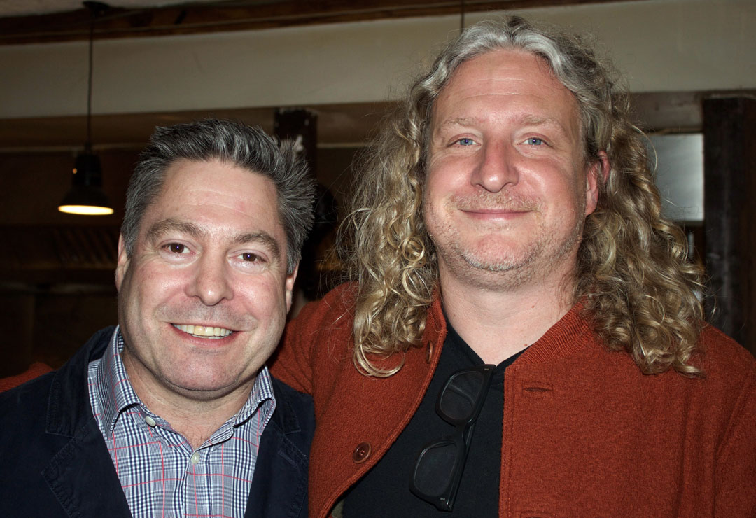 Phaidon MD James Booth-Clibborn and Joe Warwick - photo Bonnie Beadle