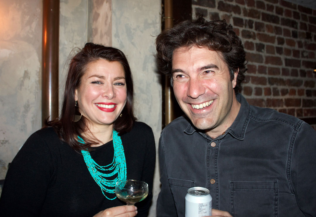 Phaidon's food book commissioning editor Ellie Smith and  Simon Bajada - photo Bonnie Beadle