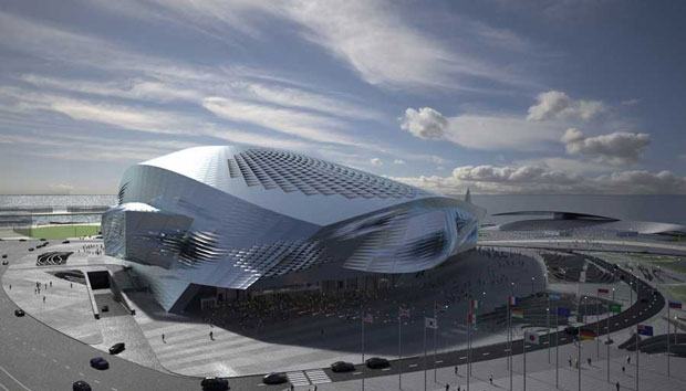 the Dalian Conference Centre by Coop Himmelb(l)au