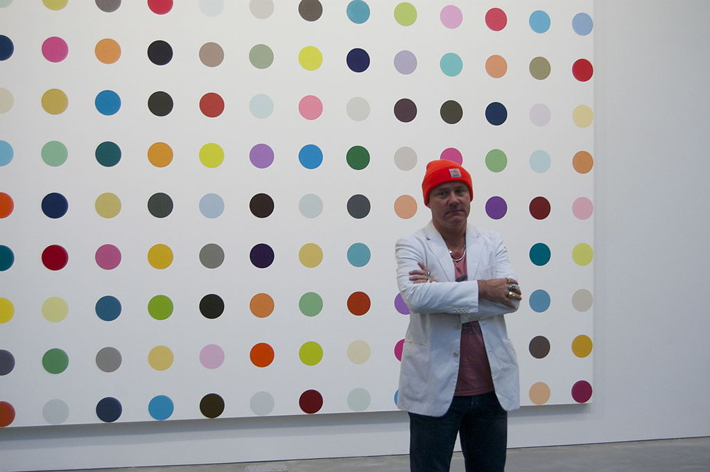 Damien Hirst at the Gagosian gallery in 2011. Image courtesy of Wikimedia Commons