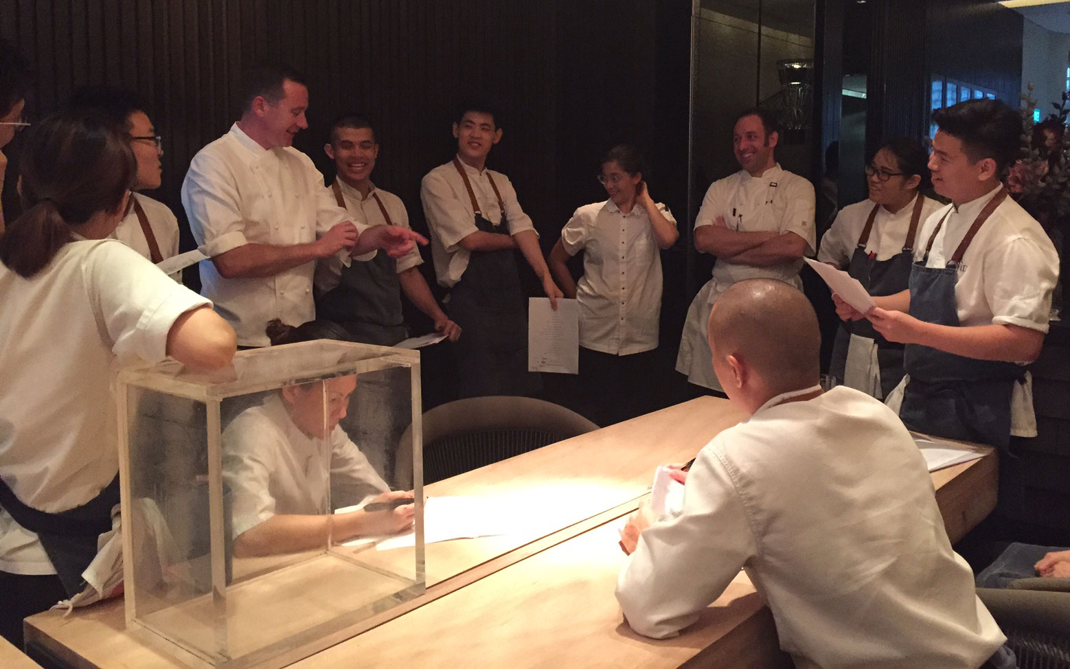 Dan Hunter, André Chiang and the team from Restaurant André