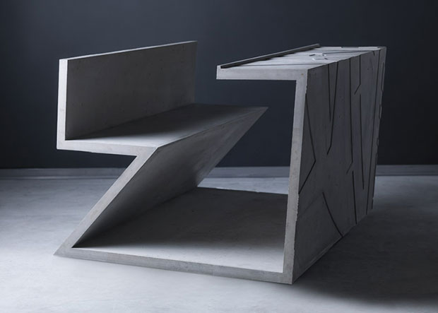 Libeskind's cement chair for Marina Abramović
