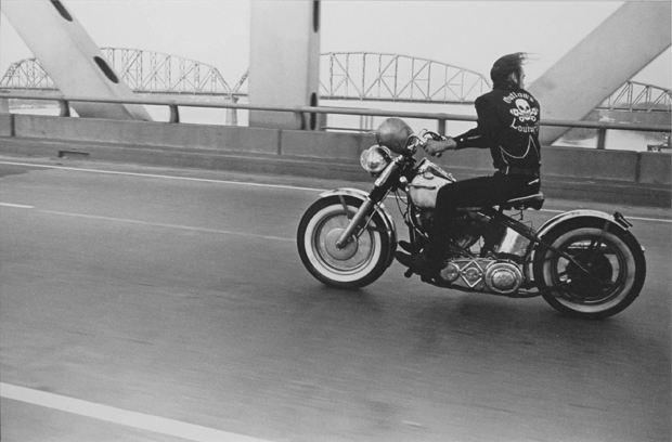 Crossing the Ohio river 1966 by Danny Lyon, from The Bikeriders