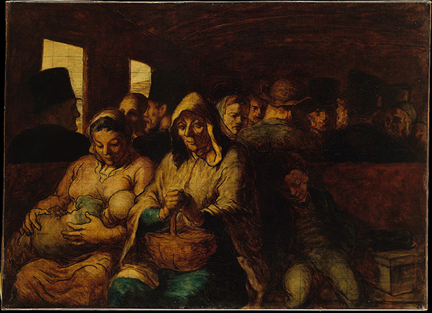 Third-Class Carriage (1862-64) by Honore Daumier