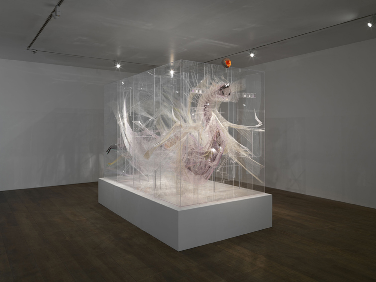 Le gorge, 2012, David Altmejd Plexiglass, resin, coconut shells, chain, thread, acrylic paint, metal wire. photo courtesy Stuart Shave/Modern Art, London