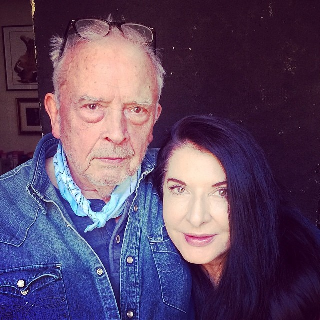 Marina Abramovic and David Bailey, London 2014