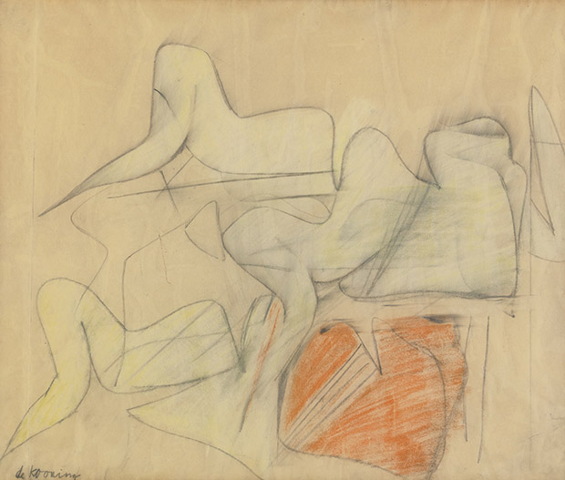 From Book to Bid - de Kooning's Pink Angels (study)