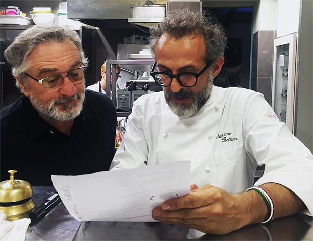Massimo Bottura and Robert De Niro feed the Bronx