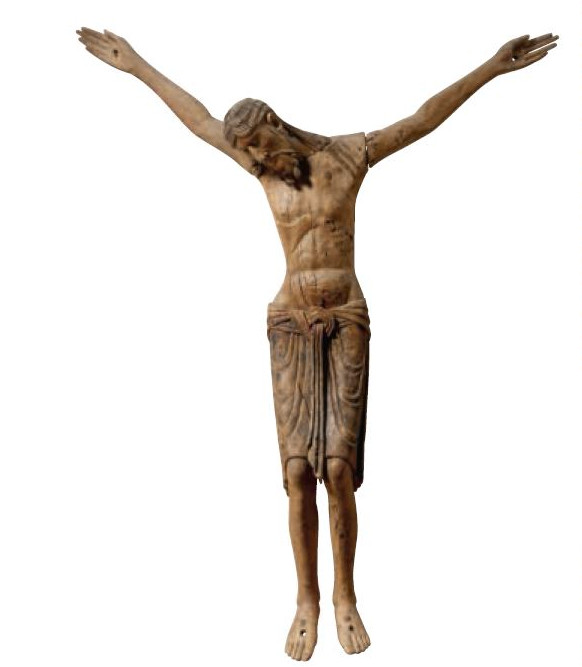 The wooden sculpture created to show Christ's death