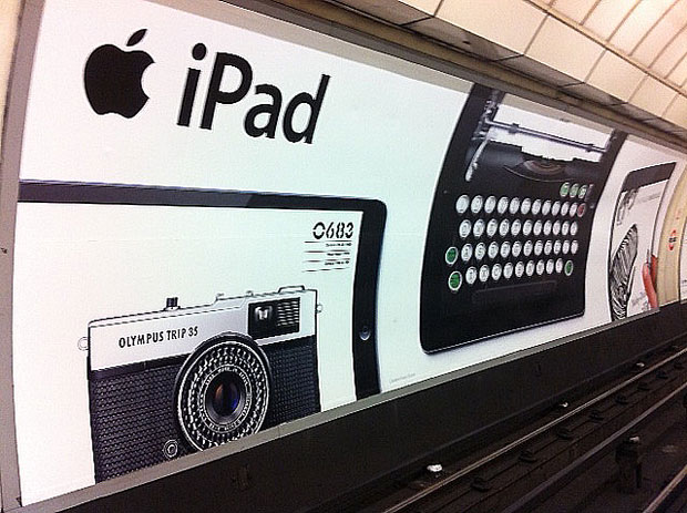 The Apple iPad ad campaign, Angel Tube Station, London - photo by Alice Ferns
