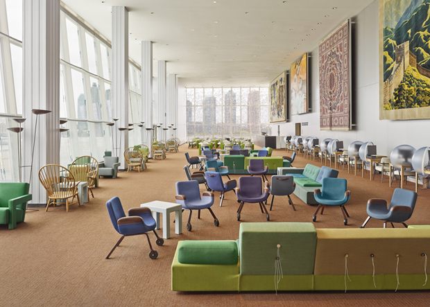 The UN North Deligates Lounge by Rem Koolhaas and Hella Jongerius