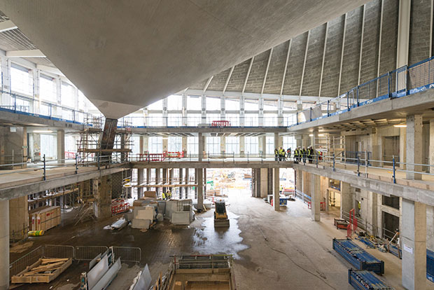 Work gets underway inside the new Design Museum. Photography by French + Tye
