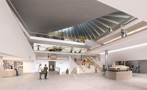 A rendering of the new Design Museum