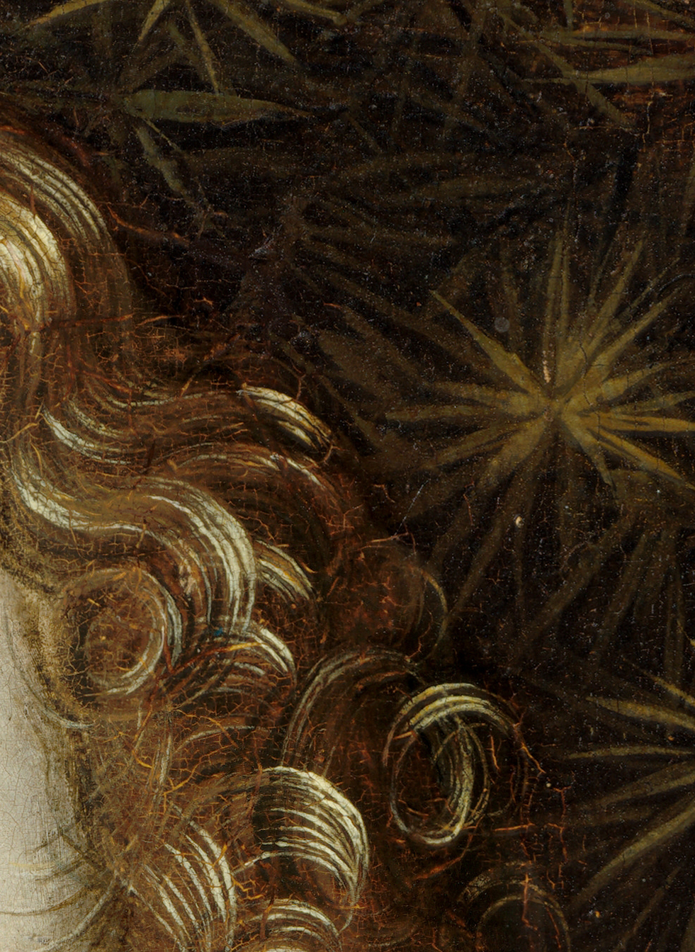 Detail from Ginevra de' Benci (c. 1475) by Leonardo da Vinci