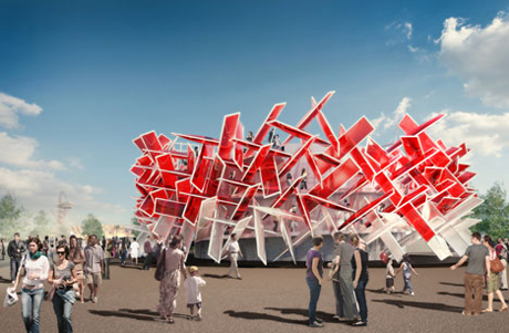 Rendering of Coca-Cola's Beatbox by Asif Khan