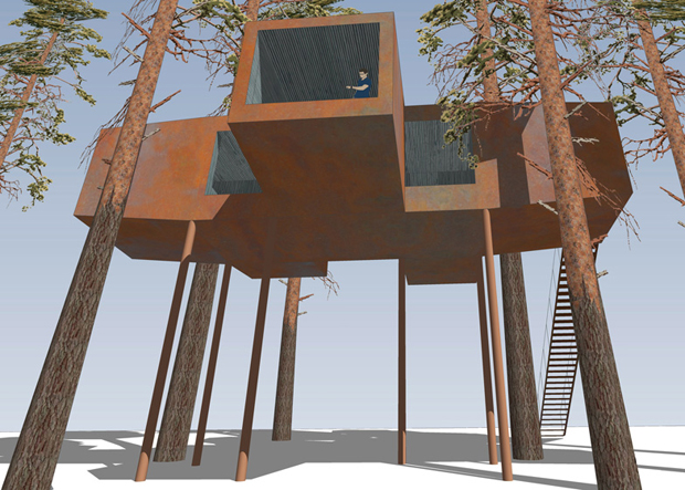 20 ton 'treehouse' built in Swedish forest