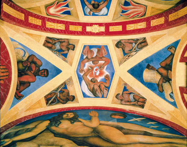 Murals in the former chapel at the Escuela Nacional de Agricultura, 1925 - 27, by Diego Rivera