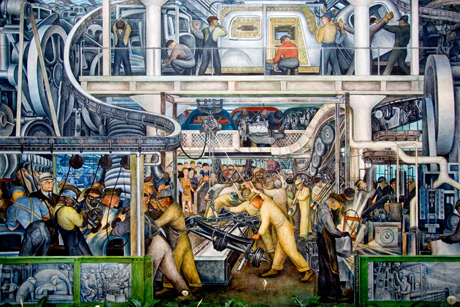 Detail from The Detroit Industry fresco (1932- 33) by Diego Rivera
