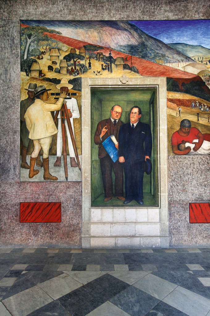 Murals from the administrative building at the Escuela Nactional de Agricultura, 1923 -24, by Diego Rivera
