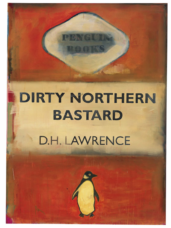 Dirty Northern Bastard, DH Lawrence (2005) by Harland Miller. Image courtesy of White Cube