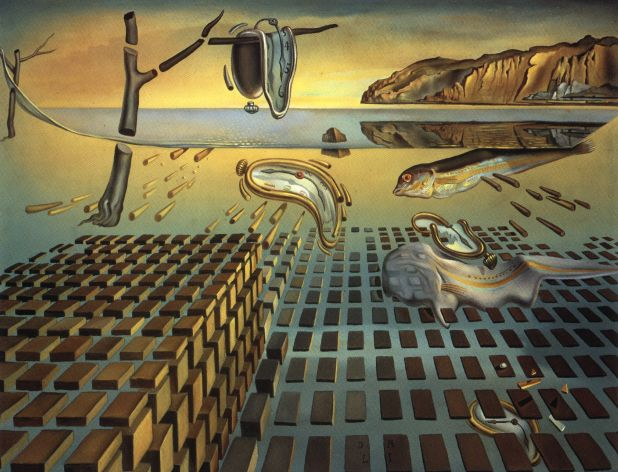 The Disintegration of the Persistence of Memory (1952-4) by Salvador Dalí