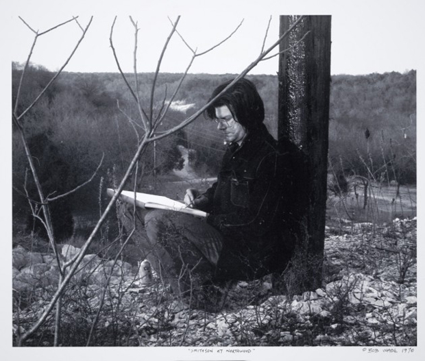 Robert Smithson at the Northwood Institute, 1970. Photograph by Robert Wade