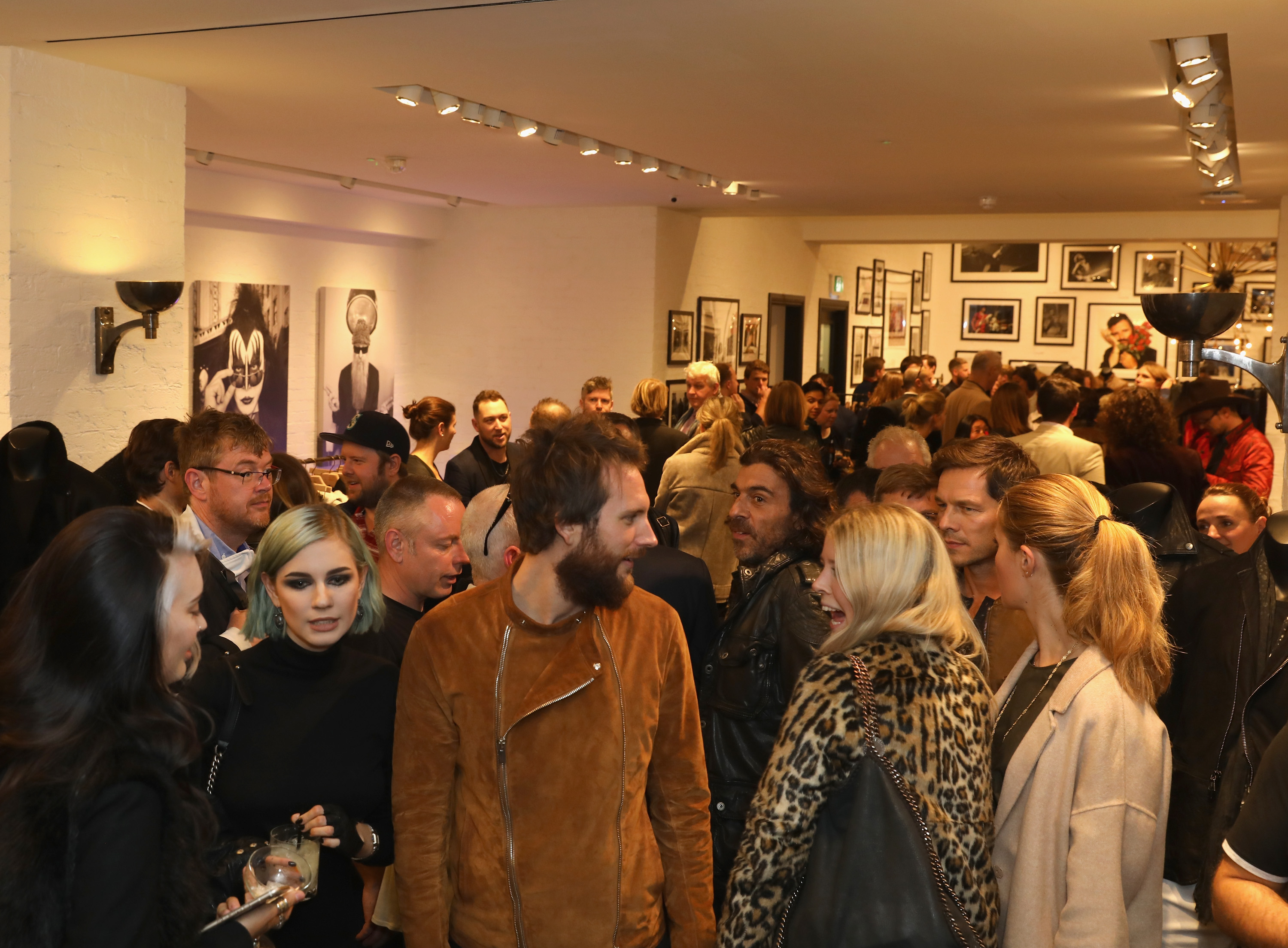Guests at the Oh So Pretty Punk In Print launch at John Varvatos