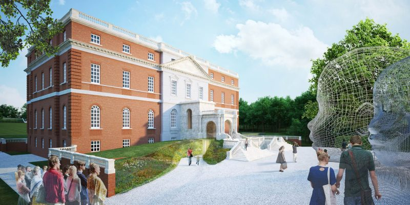 One of Donald Insall Associates and Diller Scofidio + Renfro's renderings for Clandon Park