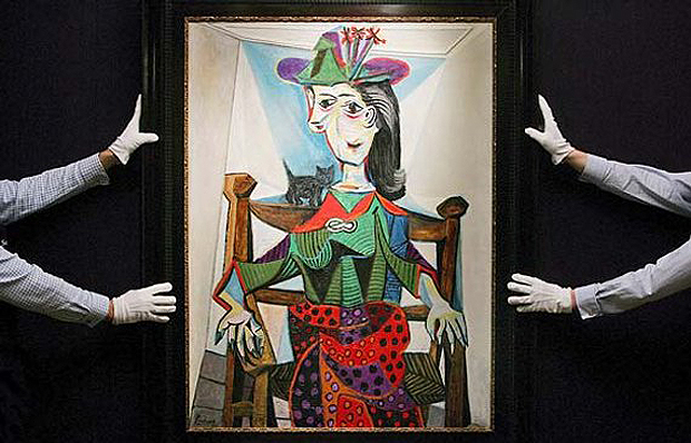 Bidzina Ivanishvili paid $95 million for Dora Maar Au Chat by Pablo Picasso at Sotheby's in New York in May 2006