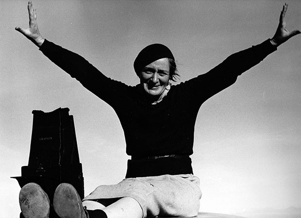 Dorothea Lange photographed by Rondal Partridge