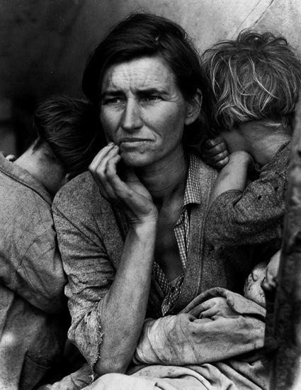 Dorothea Lange, Migrant Mother (1936), Nipomo, California, USA