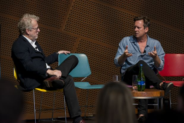 Brad Cloepfil (left) and Doug Aitken (right) at the Innovation Conference. Image by Steve Hill