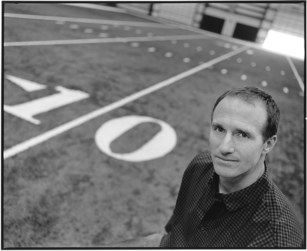 Drew Brees on the practice field, by Mary Ellen Mark for CNN