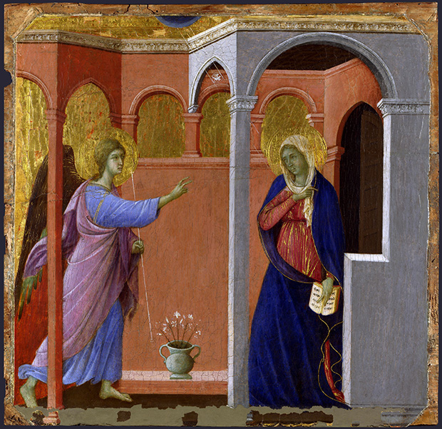 The Annunciation (1307-1308/11) by Duccio di Buoninsegna