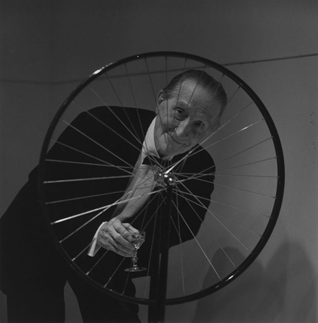 Marcel Duchamp and Bicycle Wheel (1913)