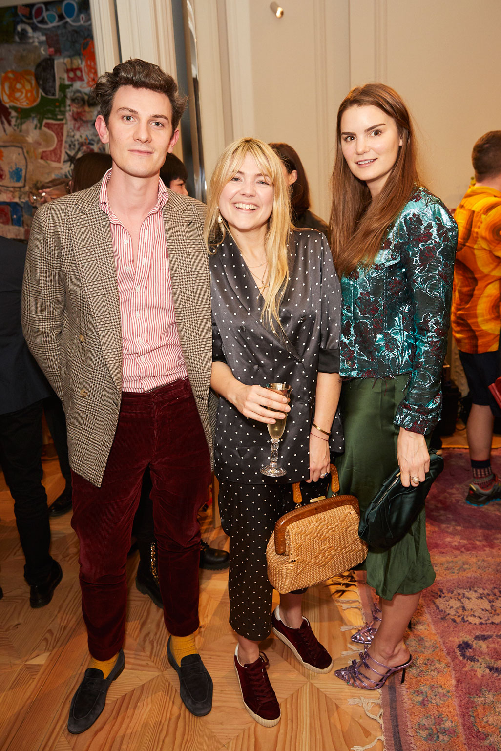Duncan Campbell, Matilda Goad and Charlotte Rey at at the Interiors launch at MATCHESFASHION.COM in London