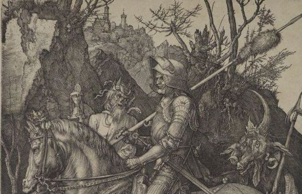Detail from Knight with Devil (1513) by Albrecht Dürer. Image courtesy of lostart.de