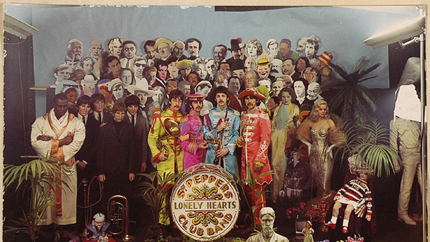 The original Sgt Pepper's Lonely Hearts Club Band shoot