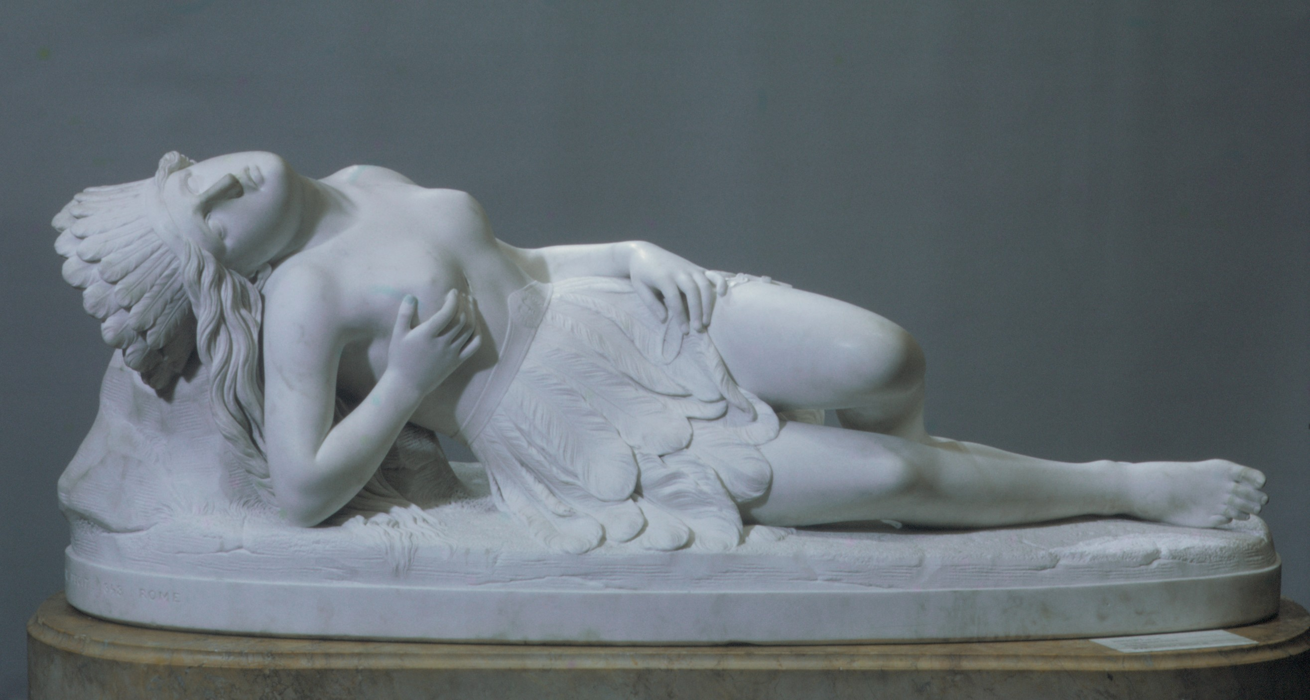 Mexican Girl Dying 1846; carved 1848, by Thomas Crawford, from the Met Museum's collection. Image: public domain, courtesy of the Met Museum