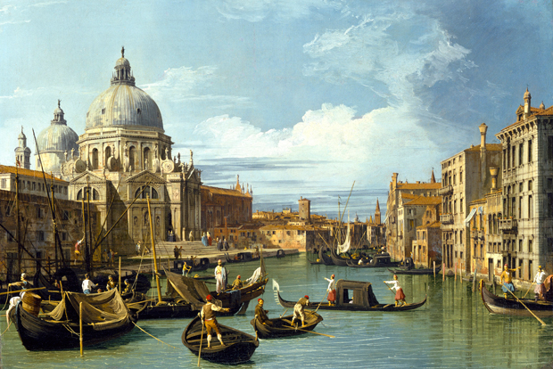 Canaletto, The Entrance to the Grand Canal, looking West, with Santa Maria della Salute (about 1729)