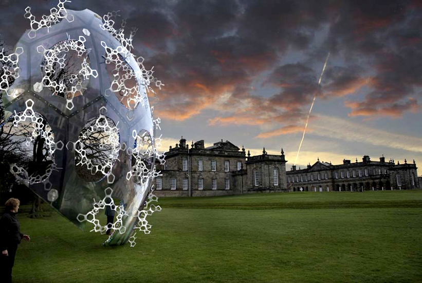 Marcos Lutyens and Alessandro Marianantoni, CO2morrow (2009), Seaton Delaval Hall, UK Commissioned by the National Trust for the Royal Academy's Earth: Art for a Changing World exhibition.  Currently on display in the grounds of Seaton Delaval Hall, Northumberland, until October 2010