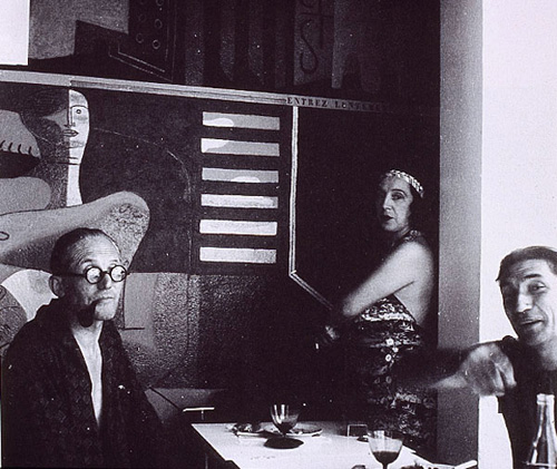 Le Corbusier and his wife Yvonne Gallis, the Ro Jean Badovici at Villa E-1027, photograph by Eileen Gray