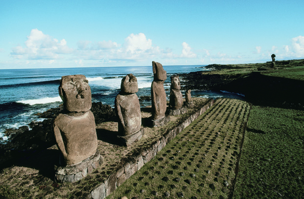 Chile's Easter Island statues